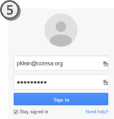 Google Login Screenshot
